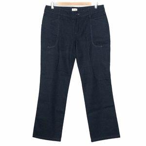 Ibex Wool Straight Leg Pants Charcoal Gray Size 10
